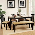 Wilma Black Mission Back Cushioned 6-piece Dining Set