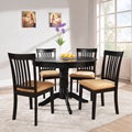 Wilma Black Mission Back Round Pedestal 5-piece Dining Set