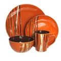 American Atelier Stix Paprika 16-piece Dinnerware Set