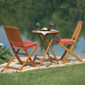 Seat Cushion and 3-piece Round Bistro Set