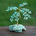 Brass 'Amazonite Luck' Amazonite Small Sculpture (Brazil)