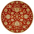 Alliyah Handmade Rusty Orange New Zealand Blend Wool Rug (6' Round)
