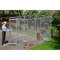 Lucky Dog Galvanized Chain Link Box Kennel (5' x 10')