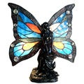 Tiffany Style Fairy Accent Antique Bronze Lamp