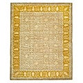 Handmade Majestic Beige/ Light Gold N. Z. Wool Rug (8'3 x 11')