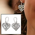 Sterling Silver 'Angel Heart' Earrings (Mexico)
