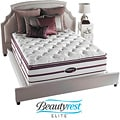 Beautyrest Elite Plato Plush Firm Super Pillow Top Queen-size Mattress Set