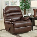 Huntington Contemporary Recliner in Toasted Almond