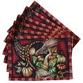 Tapestry Harvest Cornucopia Place Mats (Set of 6)