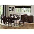 New Jersey Brown Wood Modern Dining Set