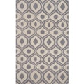 "Hand-tufted Modern Waves Grey Rug (3'6"" x 5'6"")"