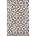 Hand-tufted Modern Waves Grey Rug (8&#39;0&quot; x 10&#39;0&quot;)
