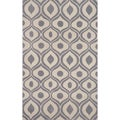 "Hand-tufted Modern Waves Grey Rug (8'0"" x 10'0"")"