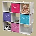 White Finish 9-cubby Shelves