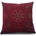 Belgium Woven Floral Decorative Pillow