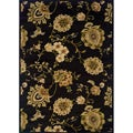 Black/ Beige Transitional Area Rug (7'10 x 10')