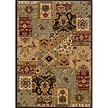 Berkley Blue/ Beige Oriental Area Rug (7'8 x 10'10)