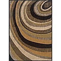 Messina Tan/ Gold Contemporary Area Rug (6'7 x 9'6)