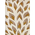 Hand-tufted Flame Inspiration Beige Wool Rug (5' x 8')