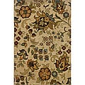 Berkley Beige/ Gold Floral Area Rug (7'8 x 10'10)