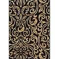 Indoor Black/Brown Abstract Area Rug (6'7 x 9'6)