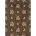Hayworth Brown/Gold Area Rug (7'8 x 10'10)