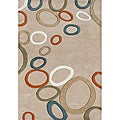 Hand-made Metro Beige New Zealand Blend Wool Rug (5 x 8)