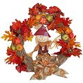 Scarecrow Harvest 24-inch Wreath