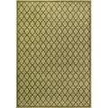 Miramar Green/ Brown Geometric Area Rug (5'3 x 7'6)