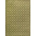 Miramar Green/ Brown Geometric Area Rug (7'10 x 10')