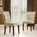 Parson Chinese Script Linen Chairs Set of 2