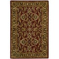 Hand-tufted Caspian Burgundy Wool Rug (5' x 8')