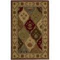 Hand-tufted Caspian Multi-colored Wool Rug (5&#39; x 8&#39;)