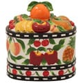 Casa Cortes Fruit Delight Collection Hand-painted Cookie Jar