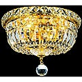 Crystal Chandelier Gold Flush Mount Light