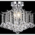 Crystal 3-light Chrome Chandelier Flush Mount