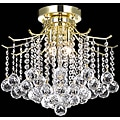 Crystal 3-light Gold Chandelier Flush Mount