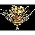 Crystal 4-light Gold Chandelier Flush Mount