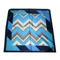 Dmitry Blue Geometric Silk Patterned Scarf
