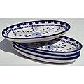 Set of 4 Azoura Design Small 9-inch Oval Platters (Tunisia)