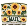 Country Sunflower Collection Wall Hanging Mail and Key Holder