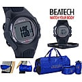Ovente BHS6000 Heart Rate Monitor with Chest Strap (Beatech Collection) and Russell Athletic 3-piece Workout Set
