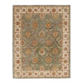 Hand-tufted Papus Green Wool Rug (12' x 15')