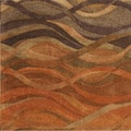 Alliyah Handmade Multi Abstract New Zealand Blend Wool Rug (8' Square)