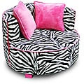 Magical Harmony Kids Minky Zebra Redondo Chair