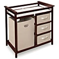 Modern Cherry Changing Table