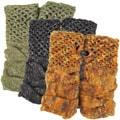 Mohair Wool Fleece-lined Brick Fingerless Hand Warmer (Nepal)