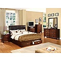 York Brown Cherry Finish 5-piece Queen-size Bed Set