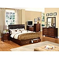 Furniture of America York Brown Cherry Finish 5-piece Queen-size Bed Set