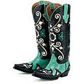 Lane Boots Women's Black 'Margaret' Cowboy Boots